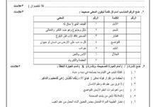 صورة [تربية إسلامية]  إمتحان نصفي للصف السادس نصف الفصل الاول