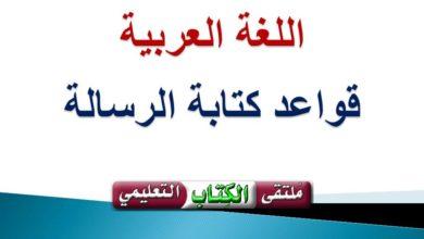Photo of قواعد كتابة الرسالة في اللغة العربية مع المثال
