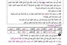 صورة شرح شامل و(سؤال وجواب ) للدرس الأول + درس الإستماع – لمادة اللغة العربية صف سادس فصل اول