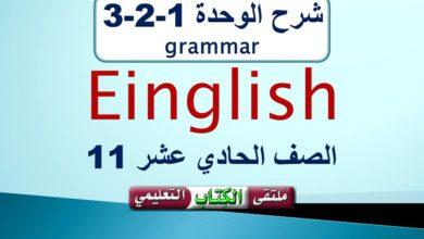 Photo of Unit 1 grammar 11th grade شرح الوحدة 1-2-3 في اللغة الانجليزية للصف الحادي عشر ف1