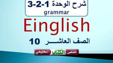 Photo of Unit 1 Grammar 10th grade شرح الوحدة 1-2-3 في اللغة الانجليزية للصف العاشر ف1
