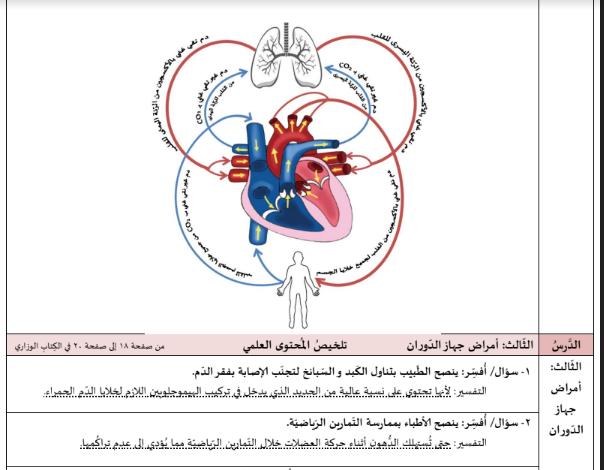 صورة تلخيص شامل  لمادة العلوم للصف السادس الفصل الثاني