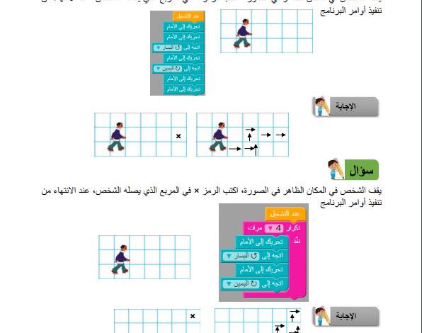 صورة مادة إثرائية في  البرمجة للصف (الخامس الفصل الثاني