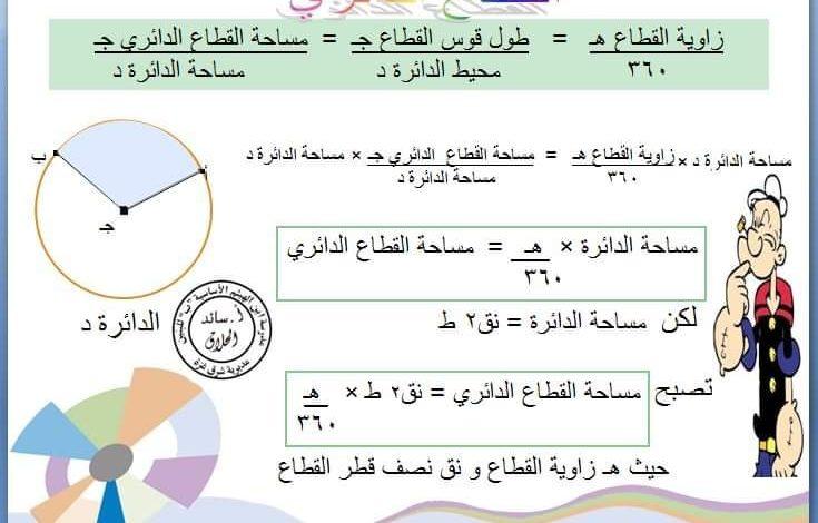 صورة شرح مبسط لوحدة الهندسة لطلاب الصف الثامن الفصل الثاني