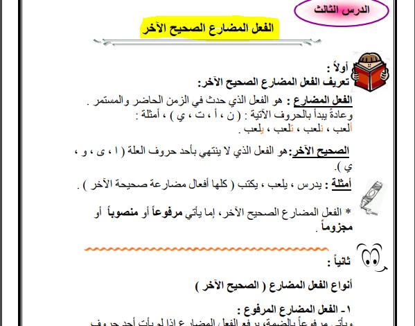 صورة مادة تأسيسية في قواعد اللغة العربية لجميع الصفوف من خامس لعاشر