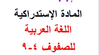 Photo of حلوووولأسئلة – (المادة الإستدراكية) – في اللغة العربية للصفوف 4-5-6-7-8-9