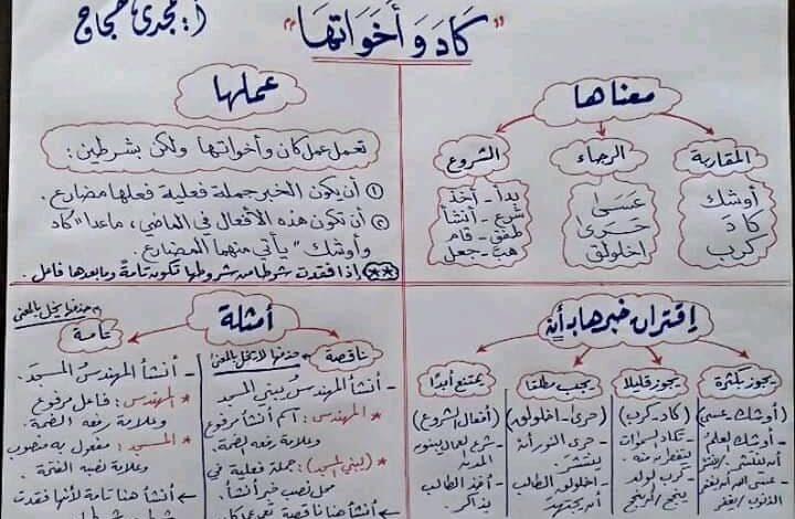 صورة لجميع الصفوف – كل القواعد التي يحتاجها الطالب من الابتدائية حتى الثانوية/ من روائع اللغة العربية